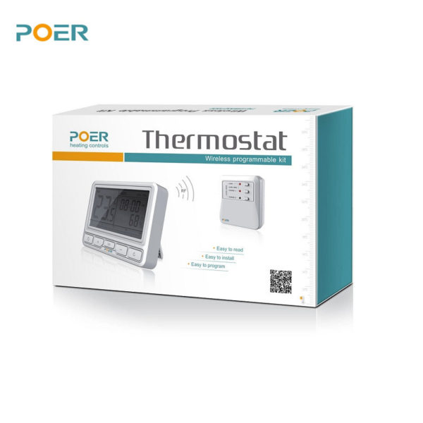PYOG - TechHome : POER WiFi Thermostat Front Box