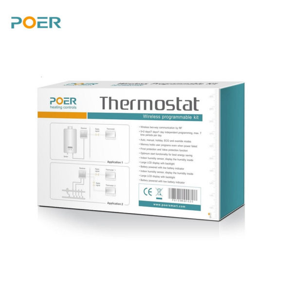 PYOG - TechHome : POER WiFi Thermostat Box Back