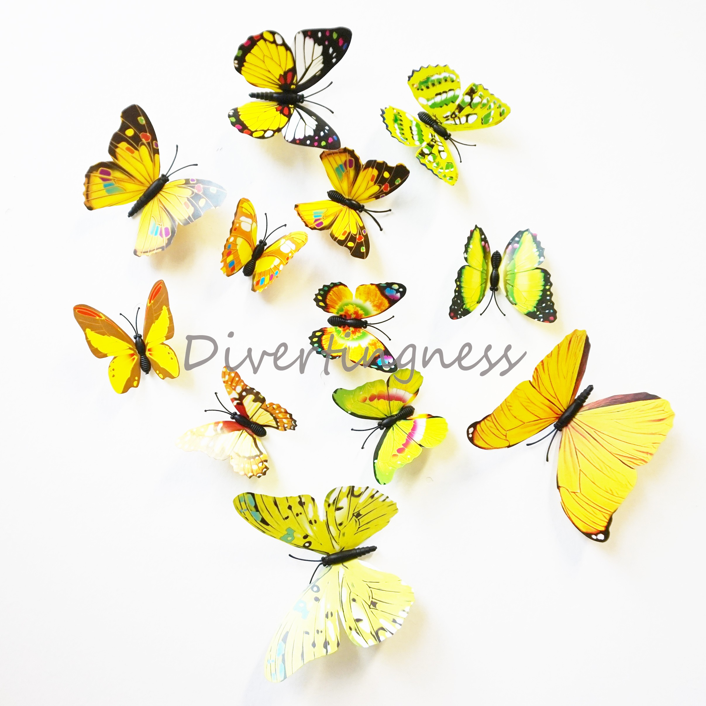 Tech Home – 3D Butterfly Wall Color Decals – Tech Home